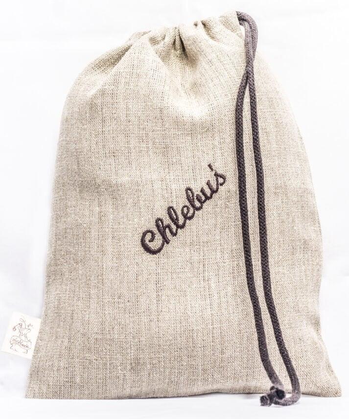 LNIANY WOREK DO CHLEBUSIA- mały, haft brąz